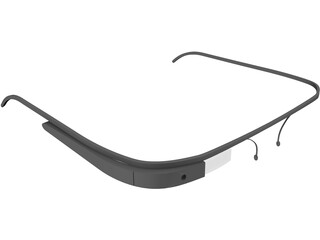 Google Glass 3D Model