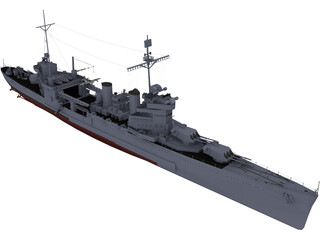 New Orleans class Heavy Cruiser 3D Model
