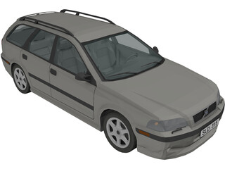 Volvo V40 Estate 3D Model