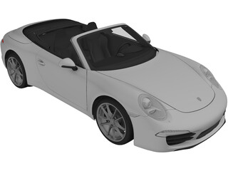 Porsche 911 991 Carrera Cabriolet (2012) 3D Model