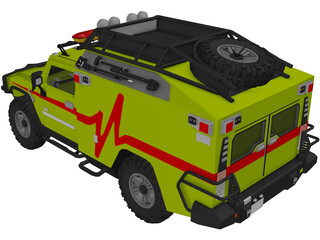 Hummer H2 Search and Rescue Sport Utility Truck Ratchet 3D Model