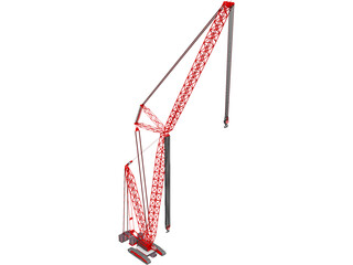 Crane Crawler Tall 3D Model