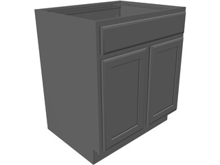 Cabinet Kitchen 3D Model