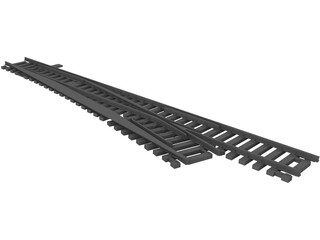 Railway Line [+Sleeper and Switch] 3D Model