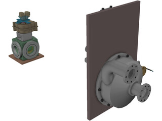 Cryo Pump Heater and Valve 3D Model