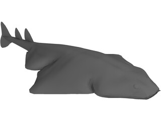 Angel Shark 3D Model