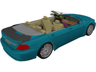 BMW 7-series Convertible 3D Model