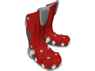 Red Dragon Boots 3D Model