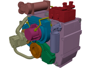 ZF 2000 Engine 3D Model