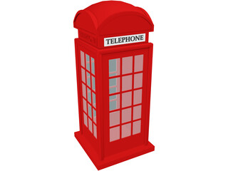 Phone Booth UK 3D Model