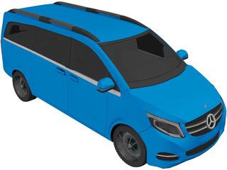 Mercedes-Benz V-Class CDI (2014) 3D Model