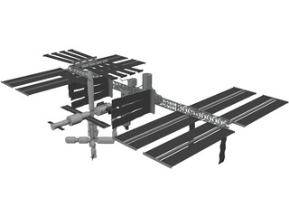International Space Station (ISS) 3D Model