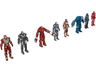 Iron Man Collection 3D Model