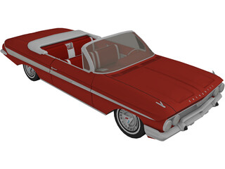 Chevrolet Impala SS Convertible (1961) 3D Model