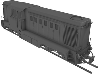 Romanian Narrow Gauge Diesel Locomotive 3D Model