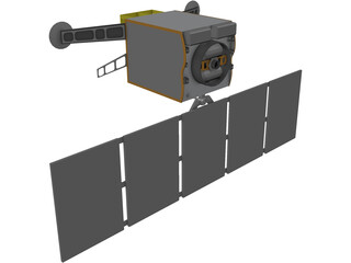 Space Based Infrared Satellite (SBIRS) 3D Model