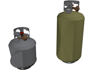Propane Tanks 3D Model