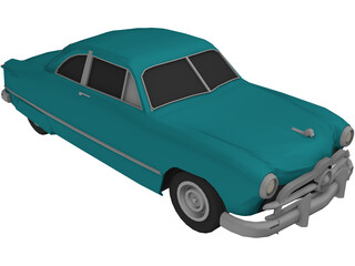 Ford Club Coupe Classic (1949) 3D Model