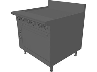 Broiler Under-Fired Gas 36 3D Model