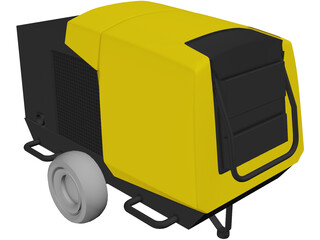Mobile Air Compressor 3D Model