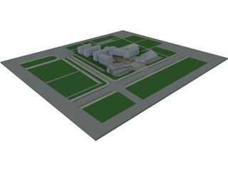 City Community Center 3D Model