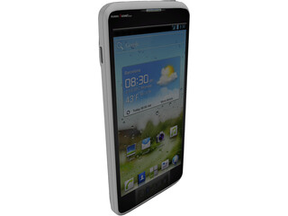 Huawei Ascend Android Phone 3D Model