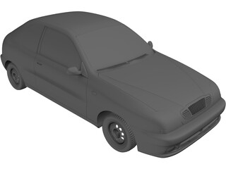 Daewoo Lanos Hatchback (2000) 3D Model