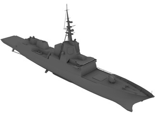 F-100 Norway Frigate 3D Model