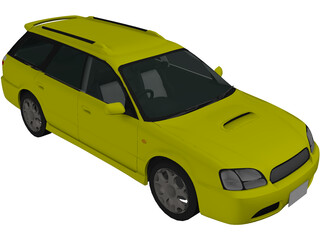 Subaru Legacy Wagon (2001) 3D Model