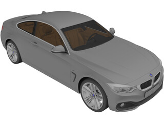 BMW 435i 4-series F32 Coupe (2014) 3D Model