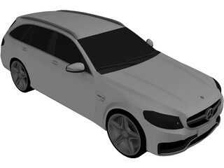 Mercedes-Benz C63 AMG Estate (2014) 3D Model