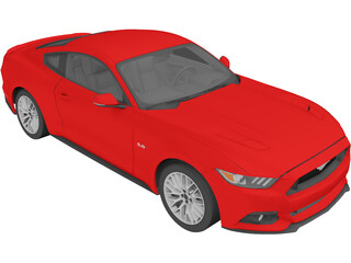 Ford Mustang GT (2015) 3D Model