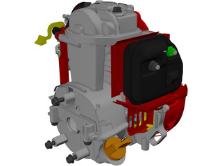 Honda GX25 Engine 3D Model