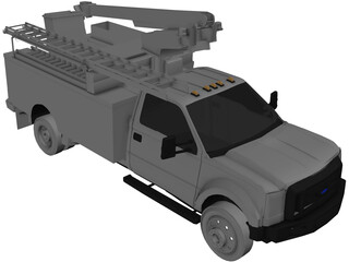 Ford F450 Ultility Truck 3D Model