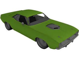 Plymouth Barracuda Lowered 3D Model