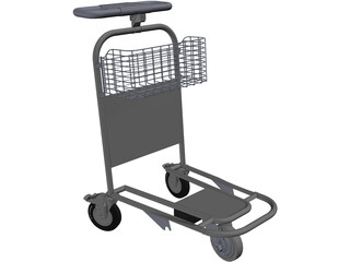Airport Trolley 3D Model