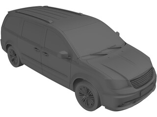 Chrysler Town and Country (2012) 3D Model