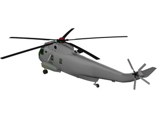 Sikorsky SH-3H Sea King Navy 3D Model