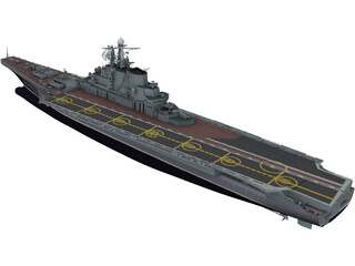 Kiev Russian Aircraft Carrier 3D Model