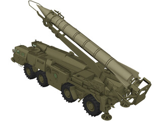 Scud B Missile Launcher 3D Model