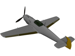 Messerschmitt BF-109E Emil 3D Model