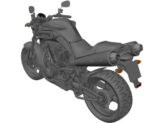 Yamaha MT-01 3D Model