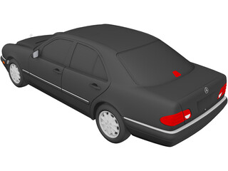 Mercedes-Benz E-class (1996) 3D Model