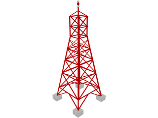 Radio Transmission Tower 3D Model