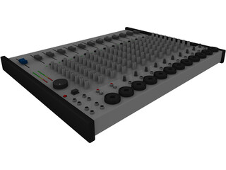 Audio Mixer 3D Model