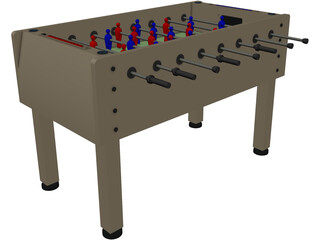 Foosball Table 3D Model