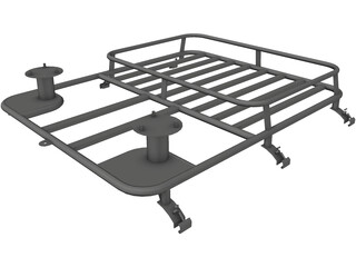Trilla Team BDM2r Off-Road Roof Rack 3D Model