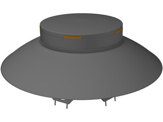 UFO (The Invaders) 3D Model