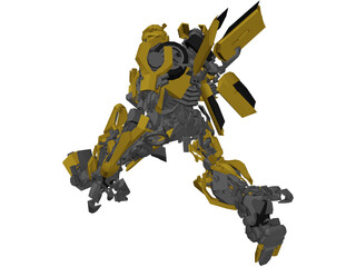 Transformers Movie Bumblbee - 77 Camaro 3D Model