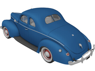 Ford Deluxe (1940) 3D Model